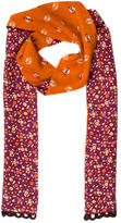 Anna Sui Abstract Printed Scarf