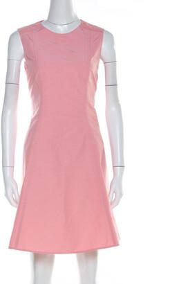 RED Valentino Rose Pink Cotton Blend Sleeveless Sheath Dress M