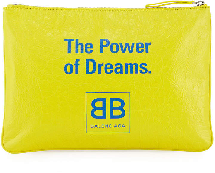 Balenciaga The Power of Dreams Leather Pouch