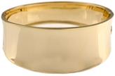 Ice High Polished 14K Gold Hinged Bangle Bracelet