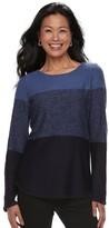 Croft & Barrow Women's Colorblock Crewneck Sweater