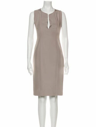 Gucci Silk Knee-Length Dress Grey