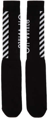 Off-White Off White Black and White Diag Socks
