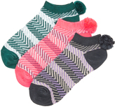 Free People 3 Pack Pom Pom Socks