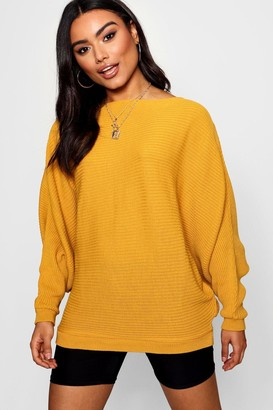 boohoo Oversized Rib Knit Batwing Sweater