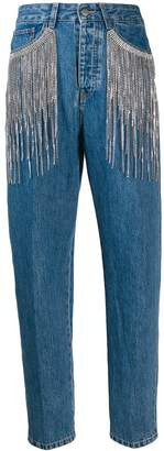 Circus Hotel fringed straight fit jeans