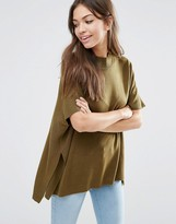JDY High Neck Top In Olive