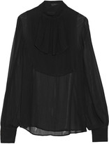 Karl Lagerfeld Georgine ruffled georgette top