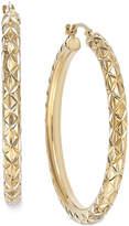 Signature GoldTM Diamond-Cut Hoop Earrings in 14k Gold over Resin