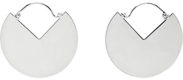 Isabel Marant Silver Hinged 90 Degree Earrings