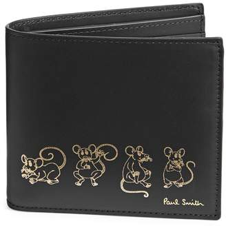 Paul Smith Graphic Leather Bi-Fold Wallet