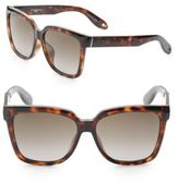 Givenchy 57MM Tortoiseshell Wayfarer Sunglasses
