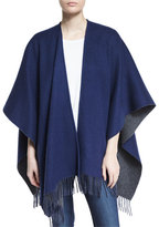 Rag & Bone Wool Felt Double-Face Wrap, Navy