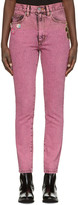 Marc Jacobs Pink Flood Stovepipe Jeans