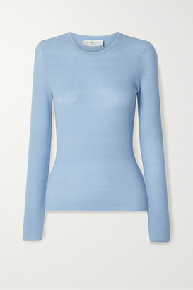 Michael Kors Ribbed Cashmere Sweater - Light blue