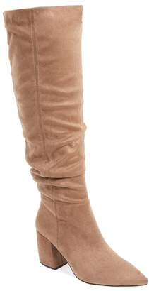 Jeffrey Campbell Final Suede Slouch Over the Knee Boot