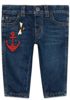 Gucci Baby denim pant with anchor