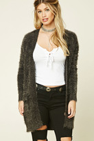 Forever 21 FOREVER 21+ Fuzzy Knit Cardigan