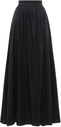 Elie Saab Gathered Taffeta Full Maxi Skirt
