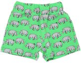 Au Jour Le Jour Rhinos Printed Light Cotton Sweat Shorts