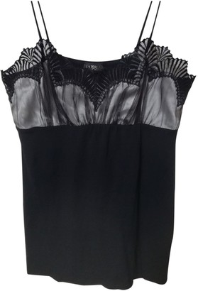 La Perla Black Cotton Top for Women