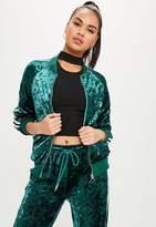 Missguided Green Side Stripe Jacket