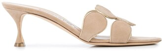Manolo Blahnik Haribal circle-strap sandals