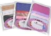 Princess-J Women Lingerie Accessories Adjustable Bra Extender Straps Clip Multi , 4 Hooks