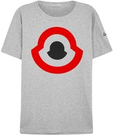 Moncler Grey Logo-print Cotton T-shirt