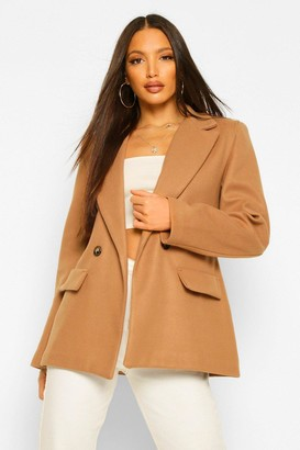 boohoo Tall Blazer Style Wool Look Coat