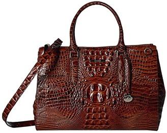 Brahmin Melbourne Blake Satchel (Pecan) Handbags