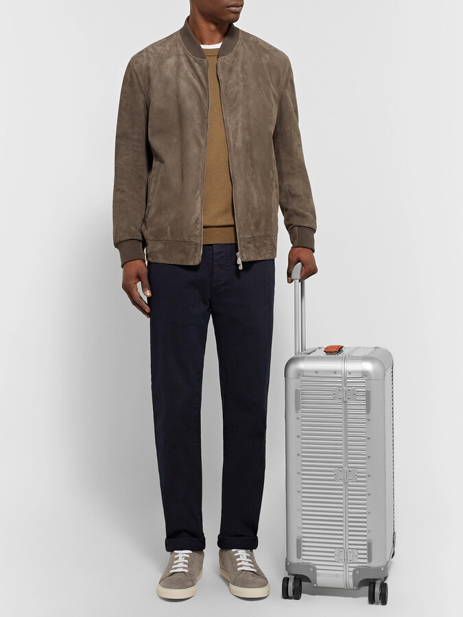 Thumbnail for your product : FPM Milano Spinner 68cm Leather-Trimmed Aluminium Suitcase