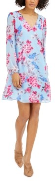 INC International Concepts Inc Floral-Print Chiffon Shift Dress, Created for Macy's