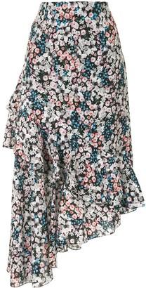 Erdem Floral Asymmetric Skirt