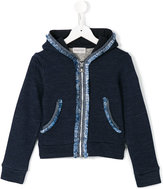 Moncler frayed details hoodie - kids - Cotton - 8 yrs