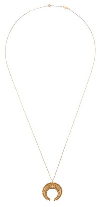 Etro Crescent Moon Pendant Necklace - Gold