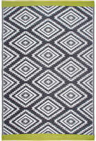 Fab Habitat World Collection Gray/White Indoor/Outdoor Area Rug