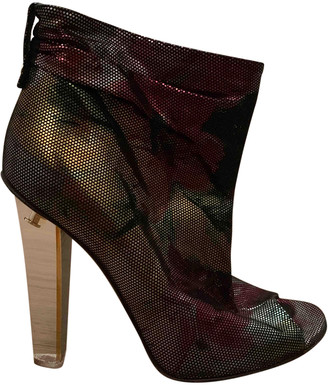 Jimmy Choo Metallic Leather Ankle boots