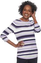 Croft & Barrow Women's Striped Crewneck Sweater
