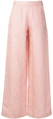 Societe Anonyme striped high waisted trousers