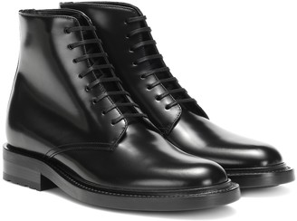 Saint Laurent Army 20 leather ankle boots