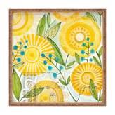 Deny Designs Cori Dantini Sun Burst Flowers Square Tray, Medium
