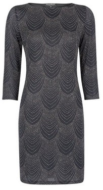 Dorothy Perkins Womens **Billie & Blossom Black Deco Shift Dress, Black