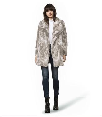 Steve Madden Swirls Gone Wild Fur Coat Grey
