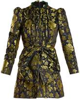 Gucci Romantic Flower-jacquard high-neck dress