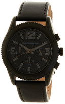Karl Lagerfeld Unisex Kurator Leather Strap Watch