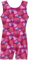 Jacques Moret Girls 4-14 Widerness Hearts Tank Biketard Leotard