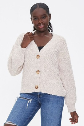Forever 21 Boucle Button-Front Cardigan