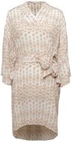 Gold Hawk Ikat Print Dress