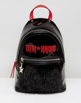 Tommy Hilfiger Gigi Hadid Mini Backpack In Patent And Mohair